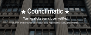 screenshot of Councilmatic (Steering Committee approval pending)