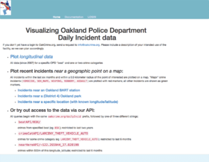 screenshot of OakCrime